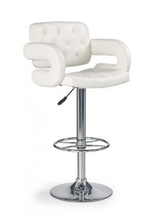 Barová stolička H-37 (eco koža krémová,chrom)