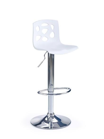 Barová stolička H-48 (biela,chrom)
