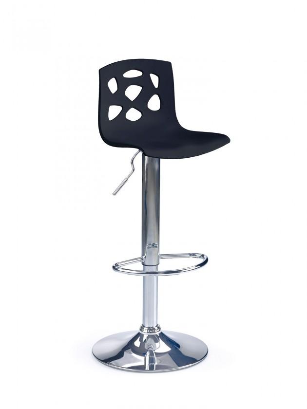 Barová stolička H-48 (čierna,chrom)