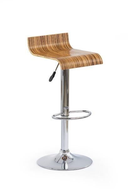 Barová stolička H-5 (dyha zebrovaná,chrom)