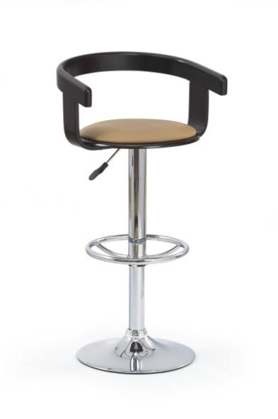 Barová stolička H-8 (čerešňa antik,eco koža coffee,chrom)