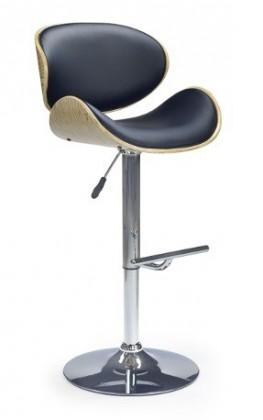 Barová stolička H44 - Barová židle, dub-černá