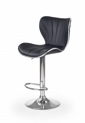 Barová stolička H69 - Barová stolička (čierna, strieborná)