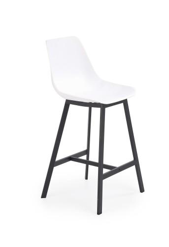 Barová stolička Isa (plast, kov, biela).