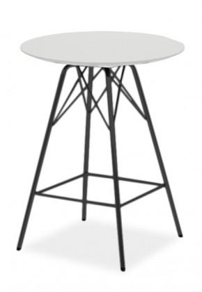 Barový stôl LOLA 9306-001+PORGY BAR 9340-824 (biela,čierna)