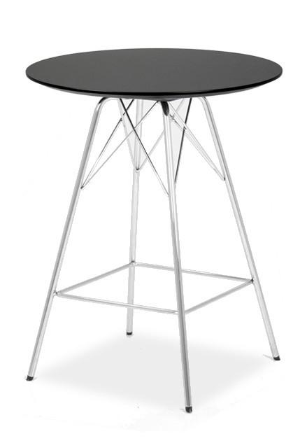 Barový stôl LOLA 9306-024+PORGY BAR 9340-091 (čierna,chróm)