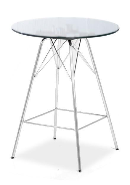 Barový stôl LOLA 9307-090+PORGY BAR 9340-091 (čire sklo,chróm)
