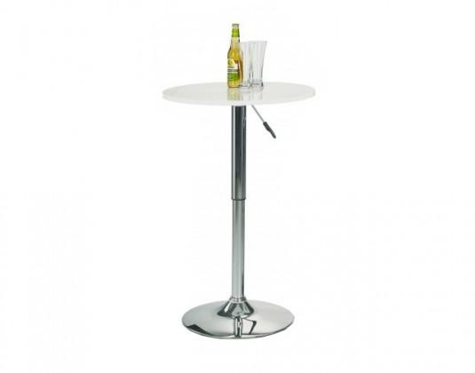 Barový stôl SB-1(biela / oceľ)