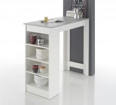 Barový stolík Mariano (biela, sivá)
