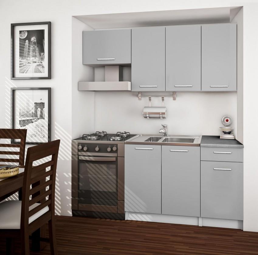 Basic - kuchynský blok A, 180 cm (sivá)