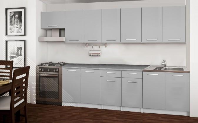 Basic - kuchynský blok F, 300 cm (sivá)