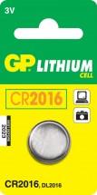 Batéria GP líthiová gombíková CR2016