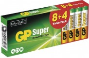 Batérie Alkaline GP Super B1310T,AAA,8+4ks