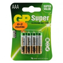 Batérie GP Ultra Alkaline, AAA, 8ks