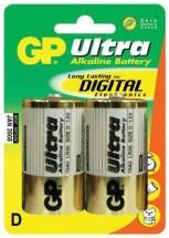 Batérie GP Ultra Alkaline, D, 2ks