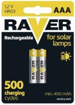 Batérie Raver NiMH, AAA, 400mAh, 2ks