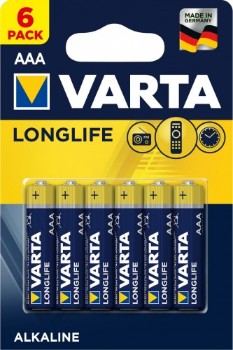 Batérie Varta Longlife Extra, AAA, 6ks