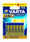 Batérie Varta Longlife Extra AAA 6ks
