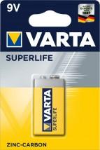 Batérie Varta Superlife, plochá, 9V