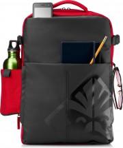 Batoh na notebook HP OMEN Gaming 4YJ80AA 17 , čierna/červená