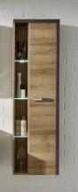 Bay - Kúpeľňová skrinka vysoká, závesná (dub, betón)
