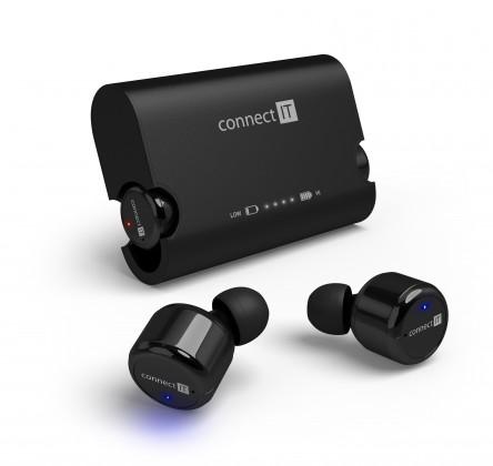 Bazár audio Connect IT True Wireless HYPER-BASS černá CEP-9000-BK