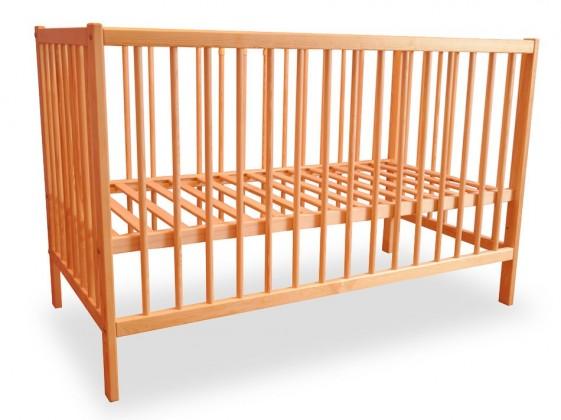 Bazár detské izby Detská postieľka, drevená, 120x60x80 cm (borovica)
