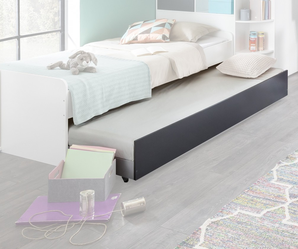 Bazár detské izby Joker - Prístelok pod posteľ (biela, antracit)