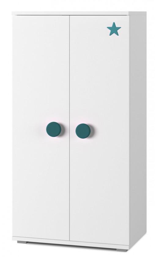 Bazár detské izby Simba 8(korpus biela/front biela a tyrkysová)