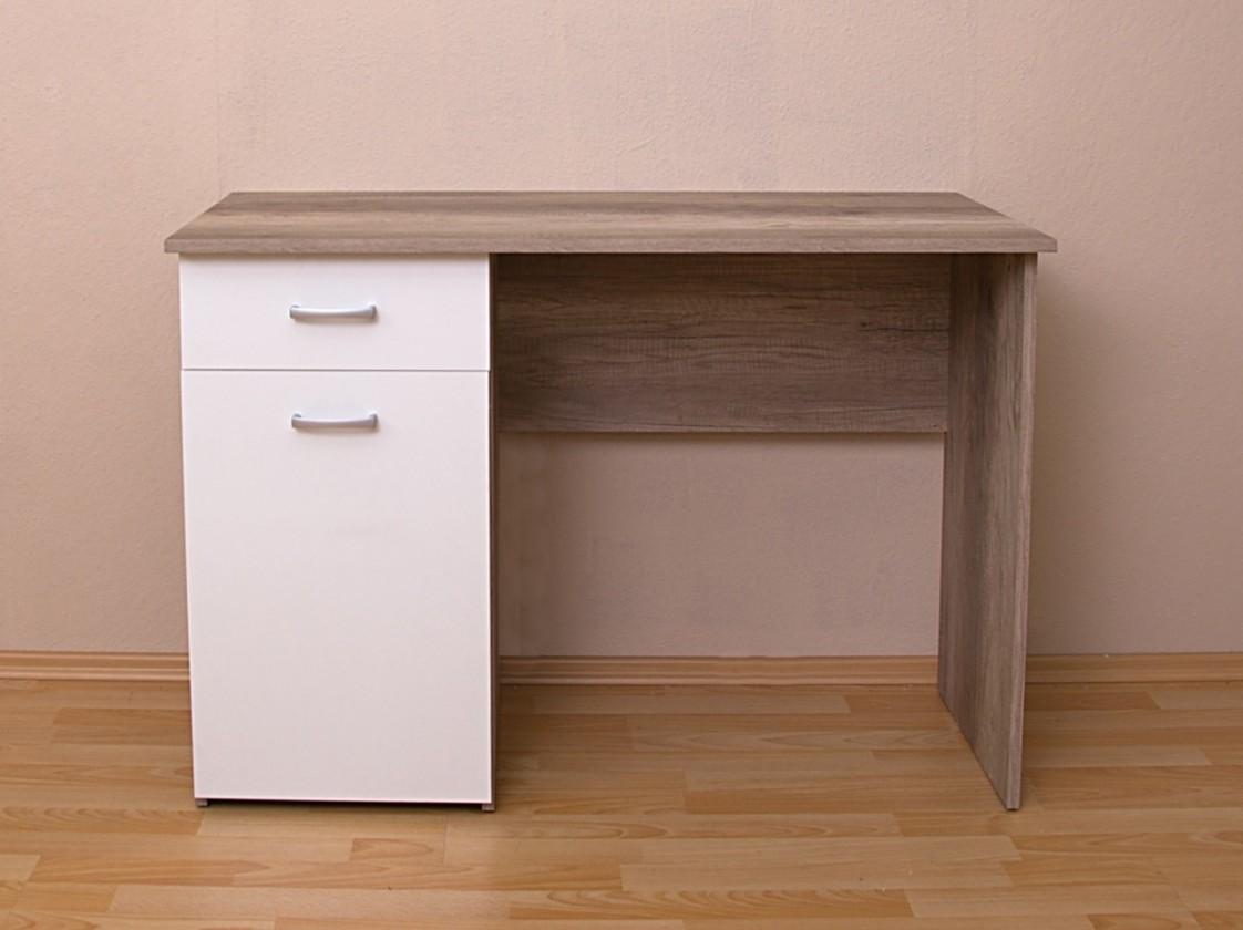 Bazár kancelárie Alfred 2 - Stôl (dub canyon, biela)
