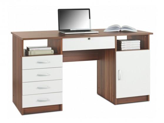 Bazár kancelárie Alfred 5 - Stôl (havanna, biela)