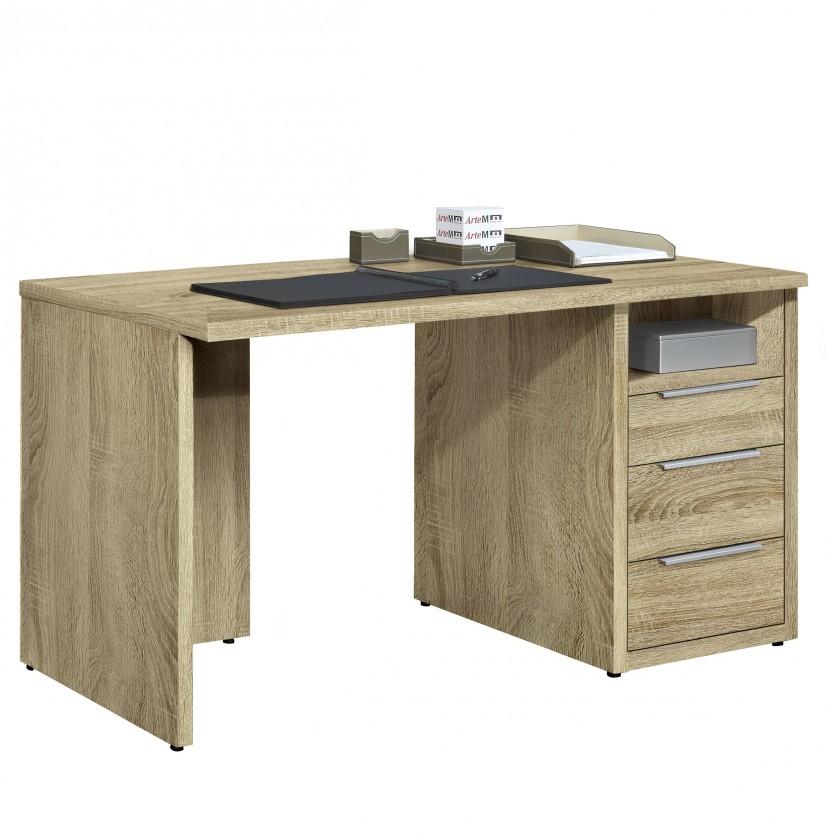 Bazár kancelárie Work - Stôl, 3x zásuvka, 120x74x70 (dub)