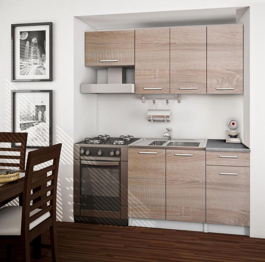 Bazár kuchyne, jedál Basic 120/180cm (dub sonoma)