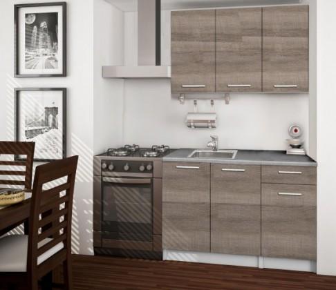 Bazár kuchyne, jedál Basic - Kuchynský blok A, 120 cm (trufle, titán)