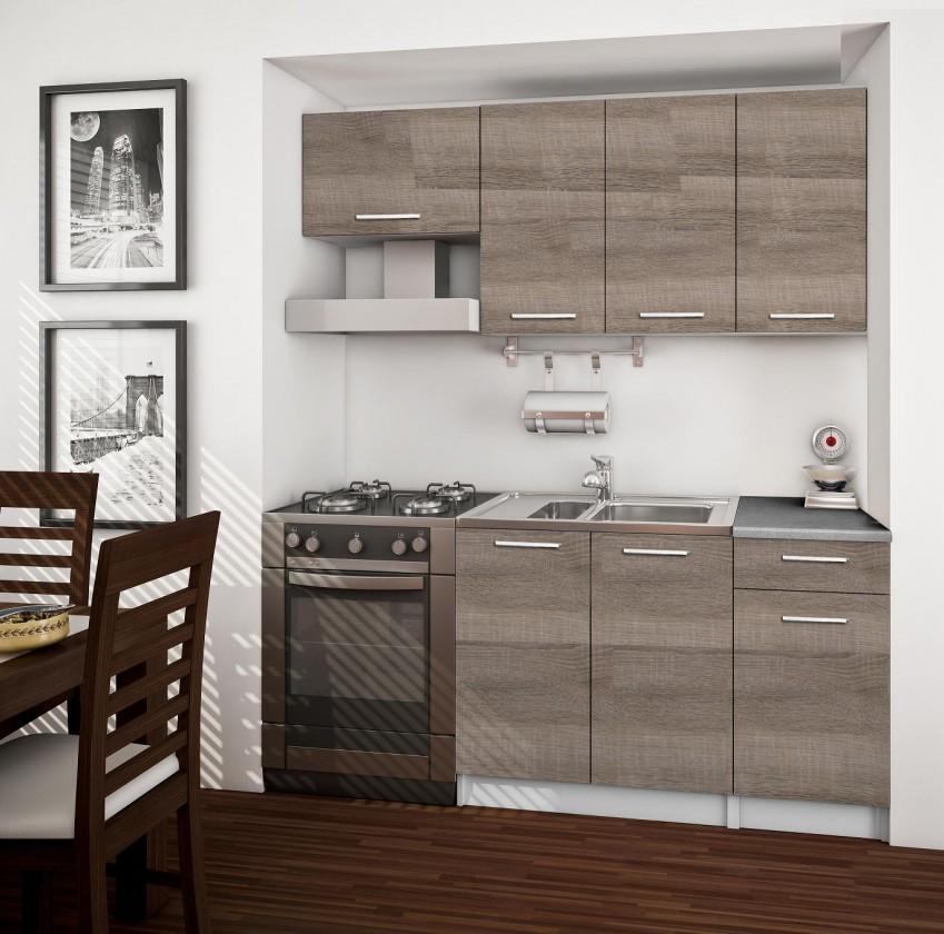 Bazár kuchyne, jedál Basic - kuchynský blok A, 180 cm (dub truffle)