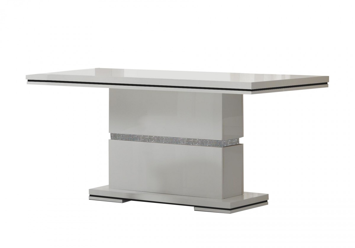 Bazár kuchyne, jedál Diva - Jedálenský stôl 160 cm (biela/diamant)