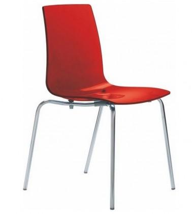Bazár kuchyne, jedál Lollipop - Jedálenská stolička (rosso transparente)