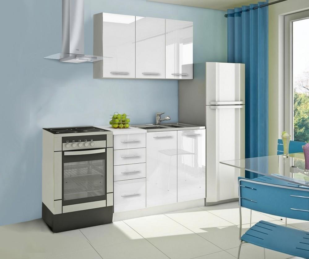 Bazár kuchyne, jedál Mondeo - Kuchynský blok A 120 cm, biela, lesk