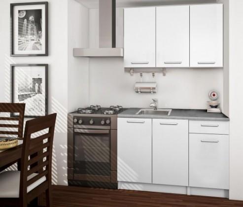 Bazár kuchyne, jedálne Basic - Kuchynský blok A, 120 cm (biela, titán)