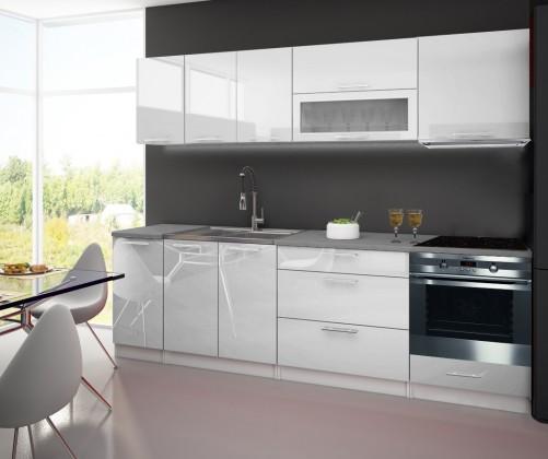 Bazár kuchyne, jedálne Emilia - Kuchynský blok D pre vstavanú rúru, 2,6 m (biela lesk)