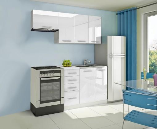 Bazár kuchyne, jedálne Mondeo - Kuchynský blok A 180 cm, biela, lesk