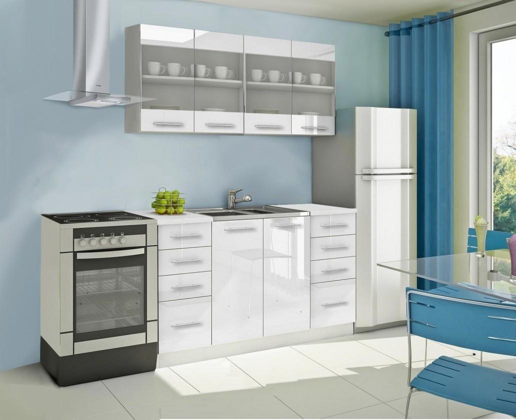 Bazár kuchyne, jedálne Mondeo - Kuchynský blok C 160 cm, biela, lesk