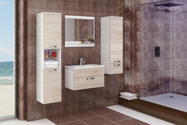 Bazár kúpeľne Adel (bílá/sonoma)