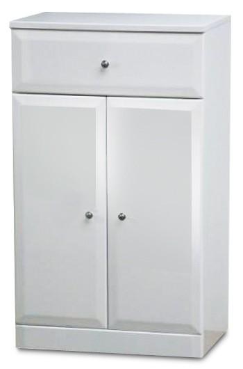 Bazár kúpeľne Kúpeľňová skrinka SD 303 voľne stojace (biela, lesk)