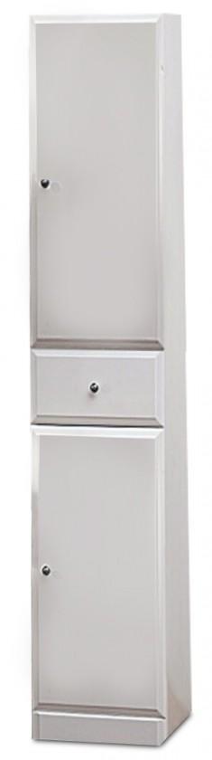 Bazár kúpeľne Kúpeľňová skrinka SD 304 vysoká voľne stojace (biela, lesk)