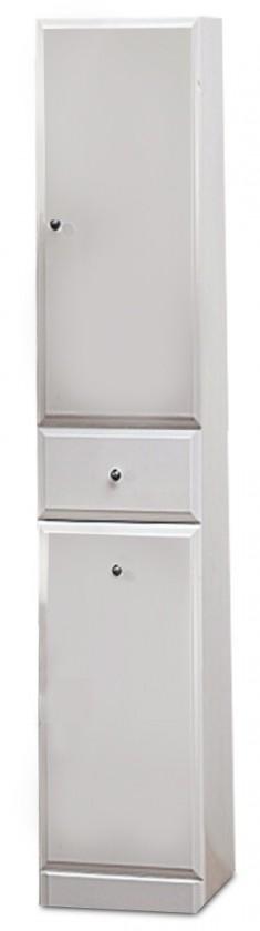 Bazár kúpeľne Kúpeľňová skrinka SD 305 s košom na bielizeň (biela, lesk)