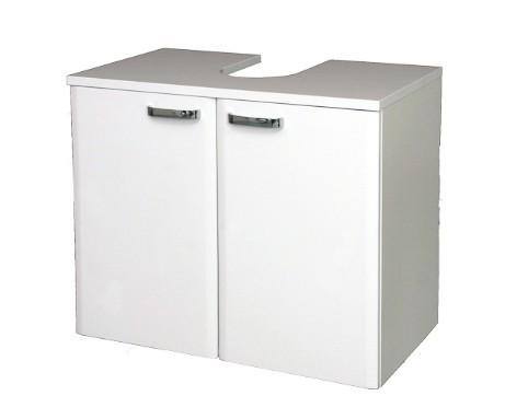 Bazár kúpeľne Melbourne - Skrinka pod umývadlo, dvierka (biela/biela)