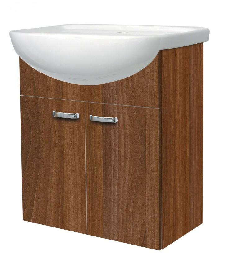 Bazár kúpeľne Melbourne - Skrinka s umývadlom 55cm (orech/orech)