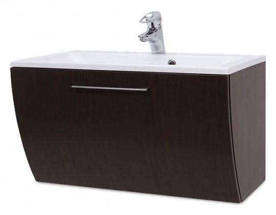 Bazár kúpeľne Valence - Skrinka s umývadlom 80 cm z litého mramoru (orech)