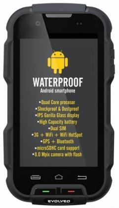 Bazár mobily, GPS Evolveo StrongPhone Q4, čierna ROZBALENÉ